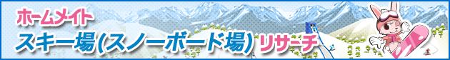 ホームメイトスキー場(スノーボード場)リサーチ