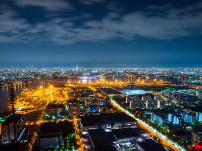 おすすめは夜。大阪湾を一望できるヘリクルージング