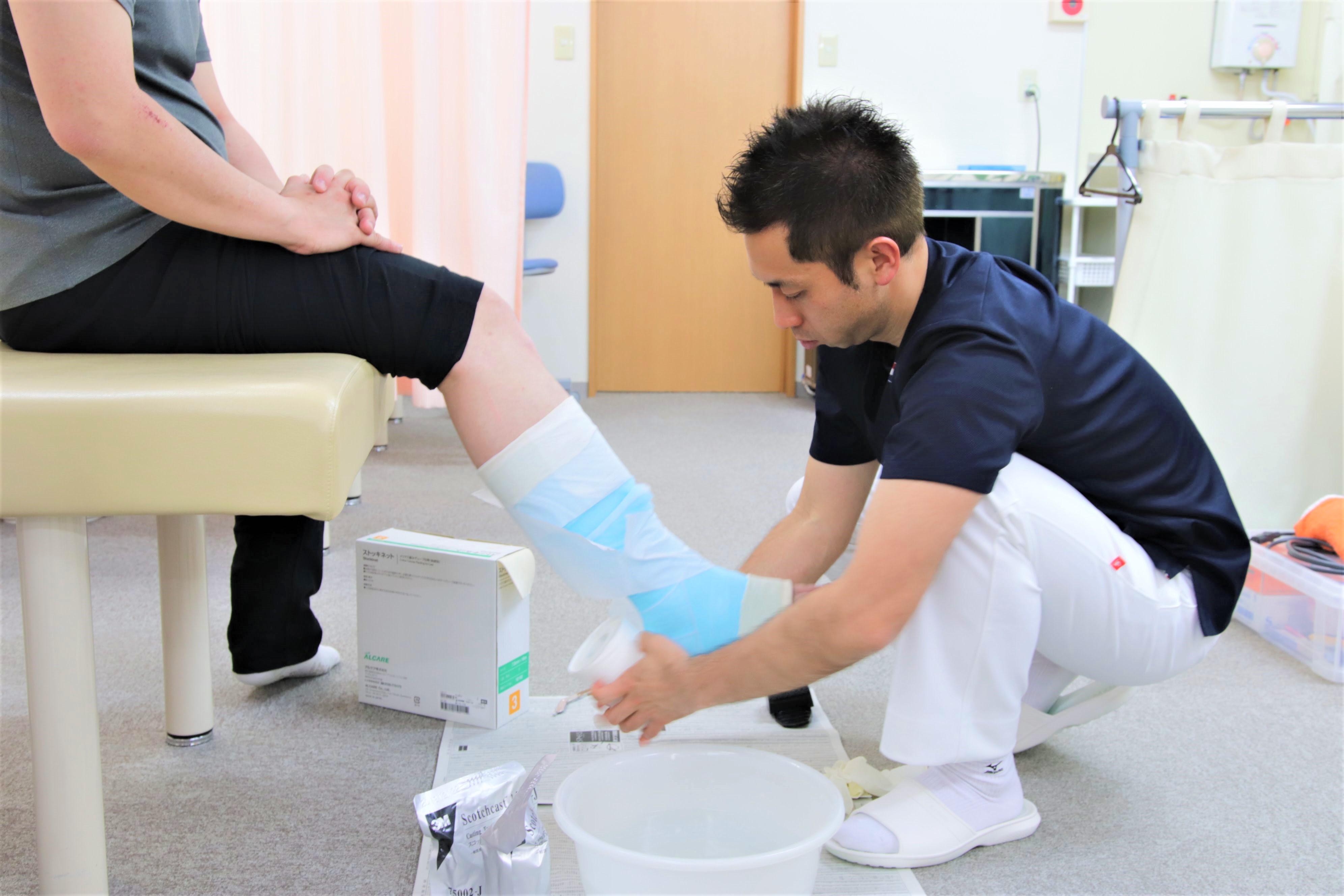 スポーツのお怪我の治療も得意です