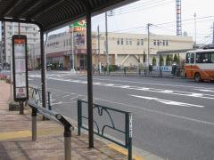 「六町駅」バス停留所