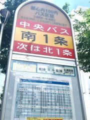 「南1条(札幌市)」バス停留所