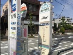 「鹿浜中学校前」バス停留所