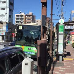 「菊川駅前」バス停留所