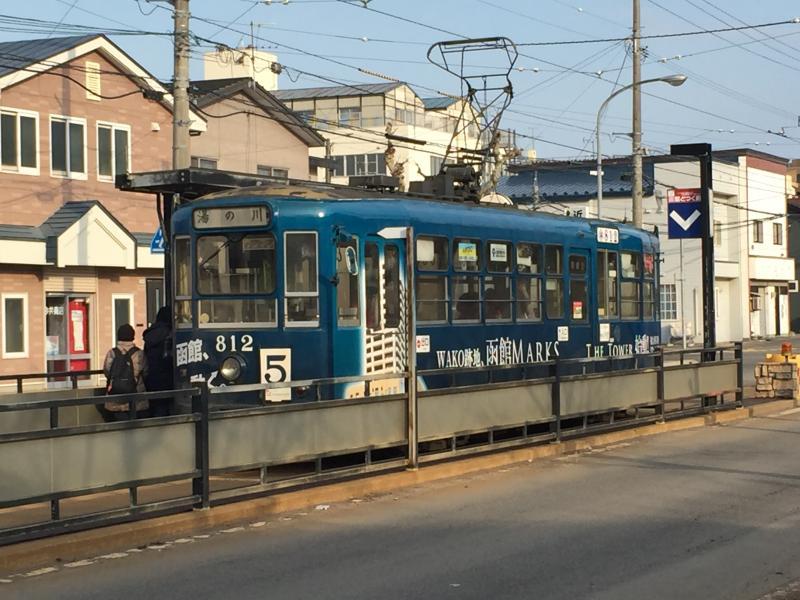 函館市電本線函館どつく前駅(函...