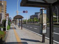「鹿児島県庁前」バス停留所