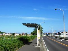 「岡崎城址入口」バス停留所