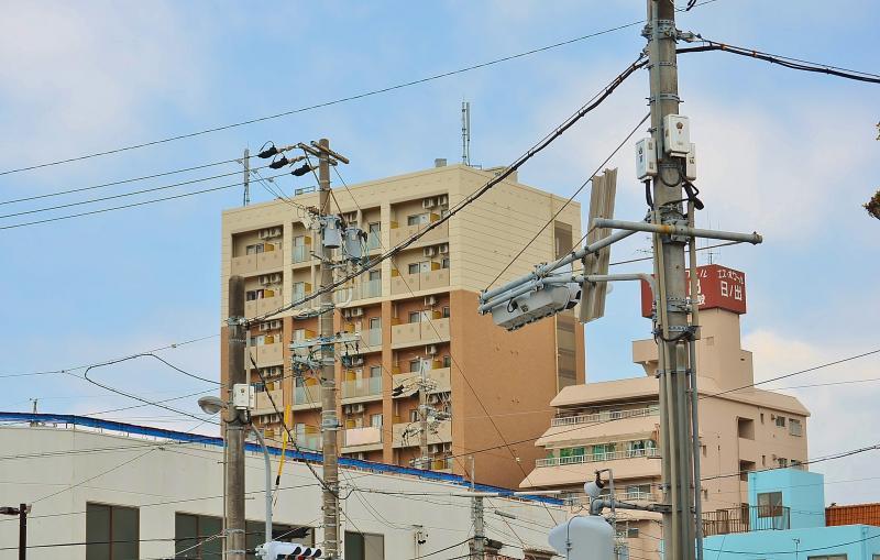 名鉄南安城駅からの外観