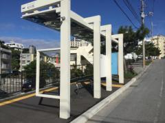 「松川西」バス停留所