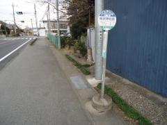 「時沢神社前」バス停留所