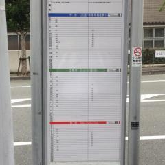 「栗栖野」バス停留所