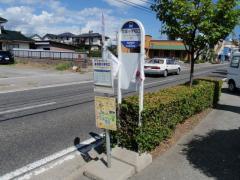 「筑摩小学校口」バス停留所