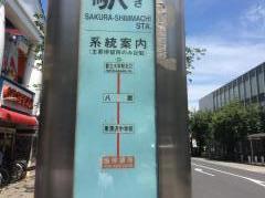「桜新町駅」バス停留所