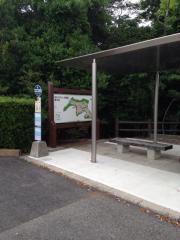 「石ケ谷墓園」バス停留所