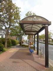 「鹿本橋」バス停留所