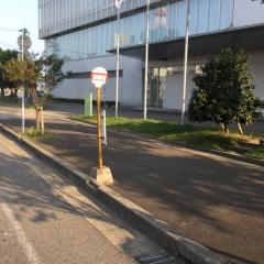 「福井新聞社前」バス停留所