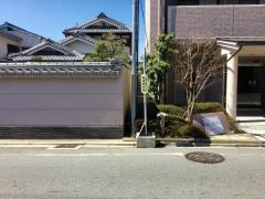 「藤森神社前」バス停留所