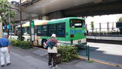 「新浜川橋」バス停留所