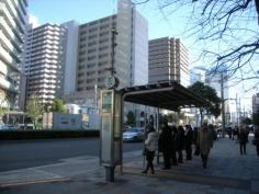 「勝どき橋南詰」バス停留所
