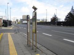 「愛宕神社前」バス停留所