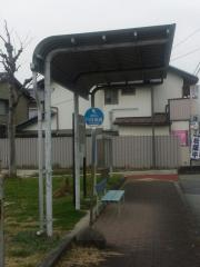 「川合高岡」バス停留所