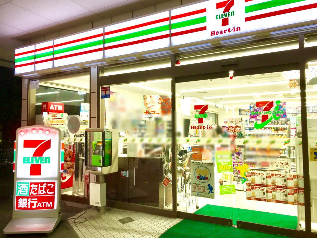 セブンイレブン ハートインJR東部市場前駅前店_施設外観