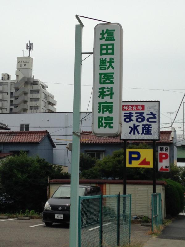 塩田獣医科病院_看板
