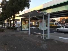 「新洲崎橋」バス停留所