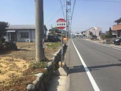 「佐波屋敷」バス停留所