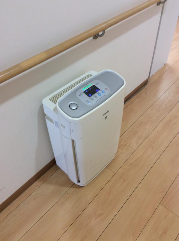 館内の空気清浄機