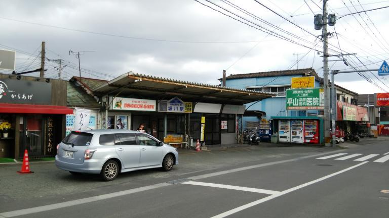 熊本電鉄菊池線堀川駅(熊本市北...