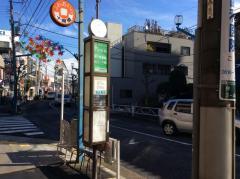 「十間橋通り」バス停留所