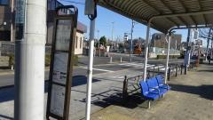 「虹の家」バス停留所