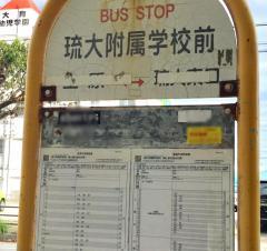「琉大附属学校前」バス停留所