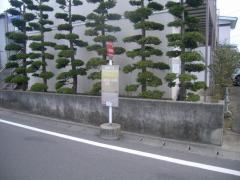 「松が丘中」バス停留所