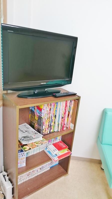 待合室テレビ
