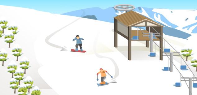スキー場(スノーボード場)イメージ