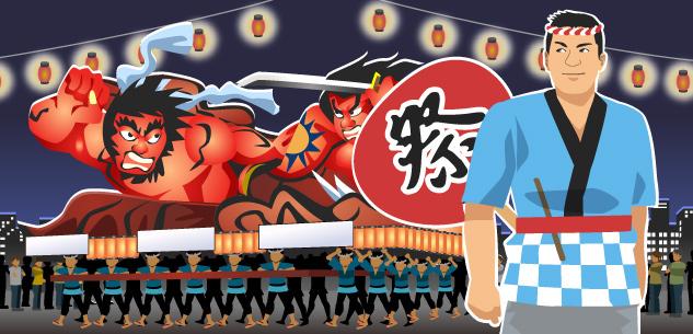 日本の祭り・花火大会イメージ