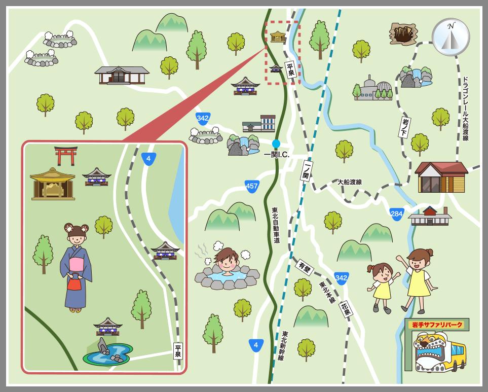 岩手県一関市・平泉町の観光マップ・レジャーマップ【ホーム ...