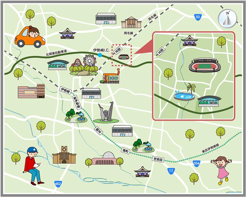 ホームメイト・リサーチ】伊勢崎市の観光マップ・レジャーマップ