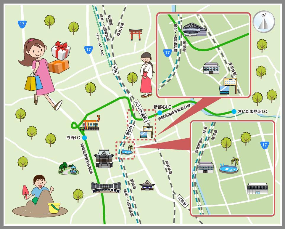 さいたま市中央区の観光マップ・レジャーマップ【ホーム ...