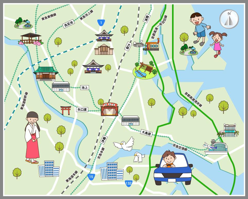 東京都大田区の観光マップ・レジャーマップ【ホームメイト ...