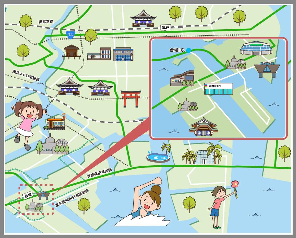 東京都江東区の観光マップ・レジ...