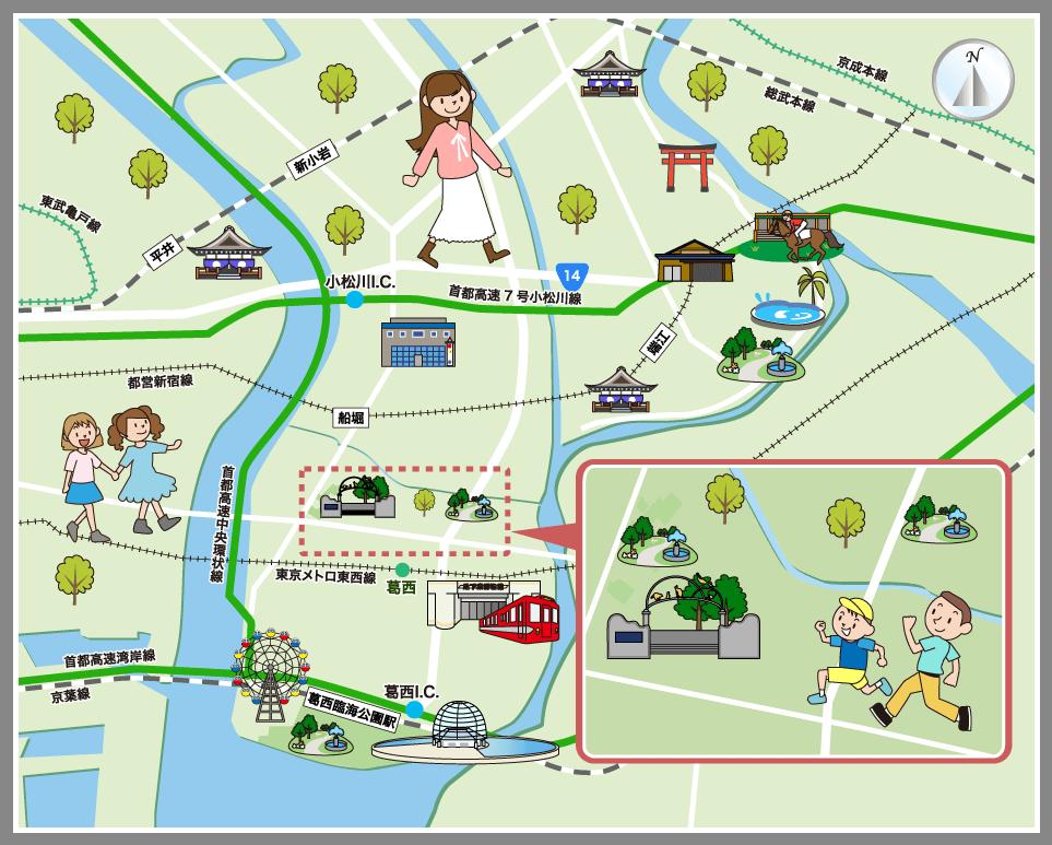東京都江戸川区の観光マップ・レ...