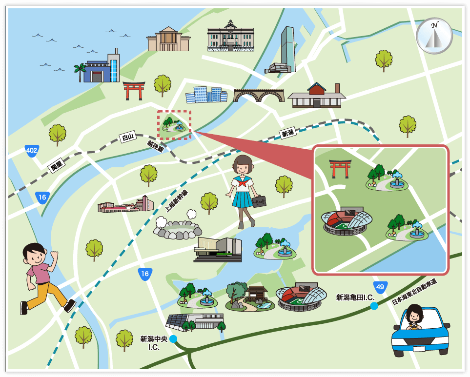 新潟市中央区の観光マップ・レジャーマップ【ホームメイト ...