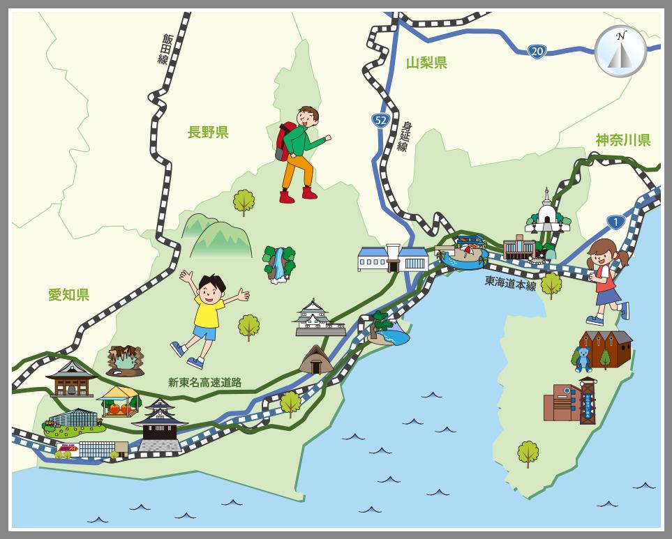 静岡県の観光マップ・レジャーマ...