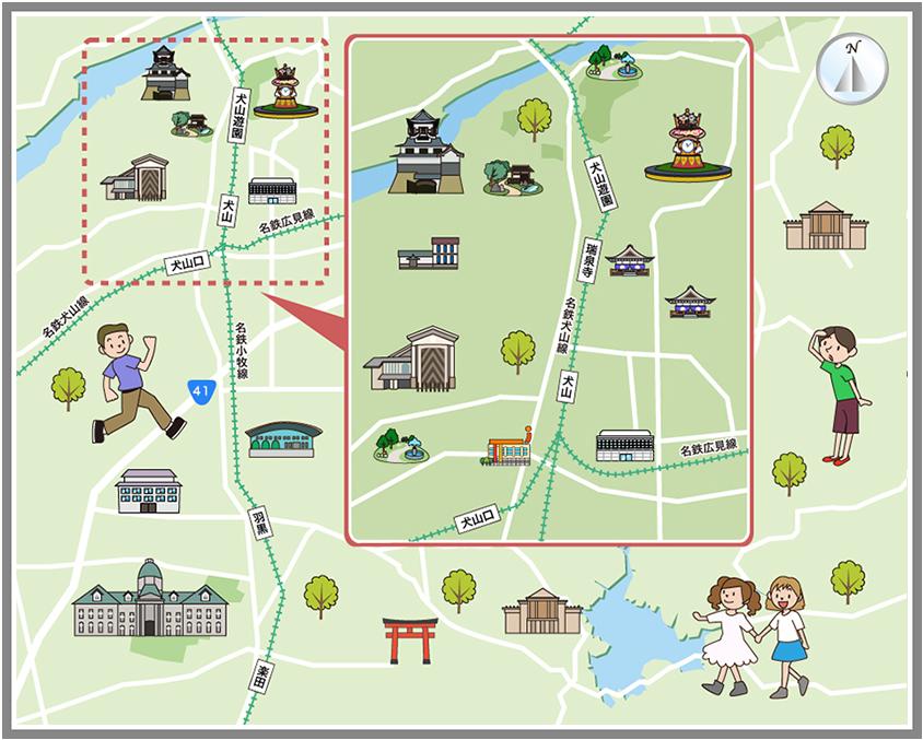 犬山市の観光マップ・レジャーマップ【ホームメイト・リサーチ】