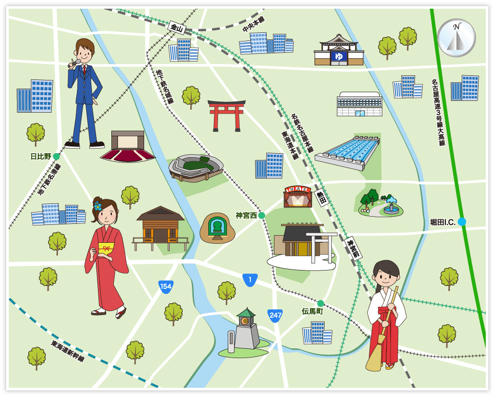 名古屋市熱田区の観光マップ・レ...