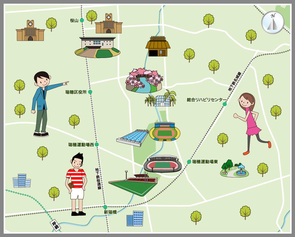 名古屋市瑞穂区の観光マップ・レ...