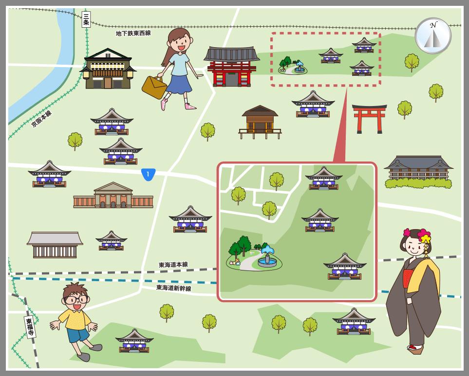 京都市東山区の観光マップ・レジャーマップ【ホームメイト ...