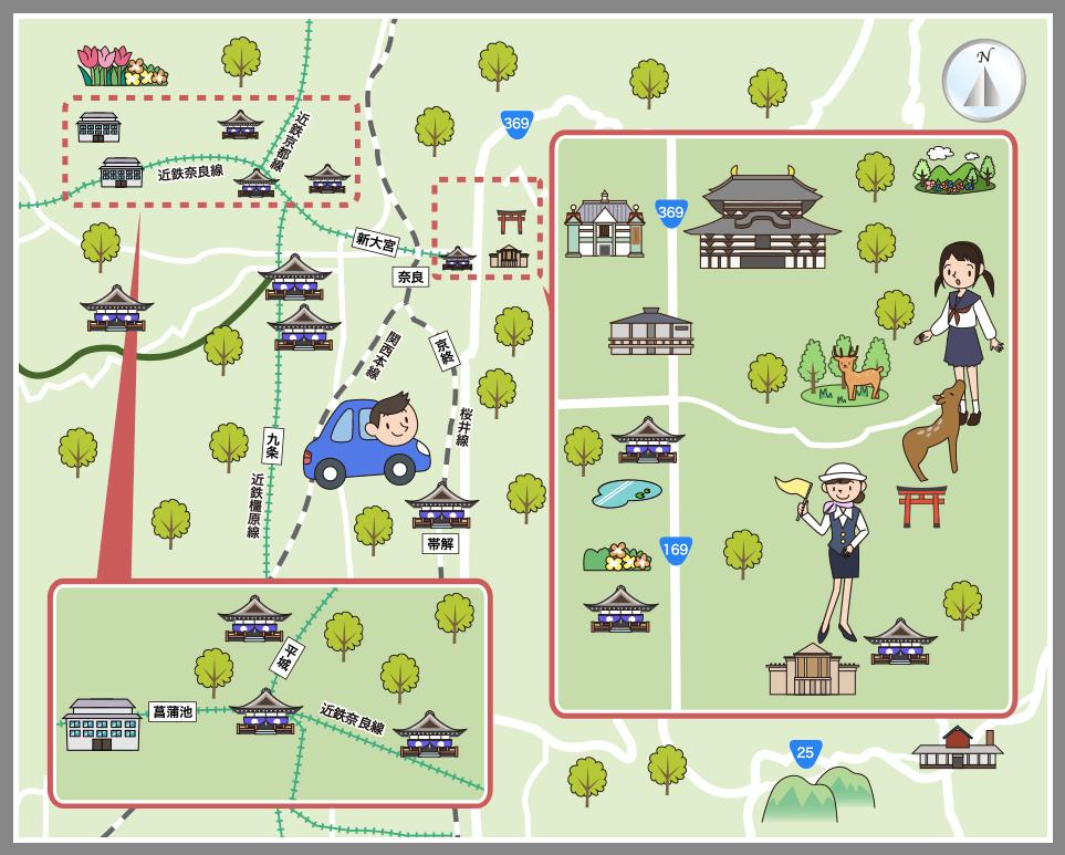 奈良県奈良市の観光マップ・レジャーマップ【ホームメイト ...